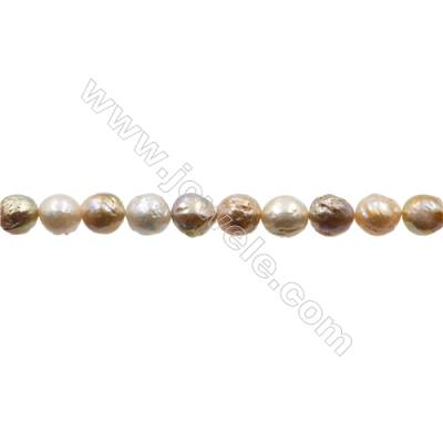 "Natural Fresh Water Pearl (Dyed)  Size  11~12x10~11mm  Hole 0.6mm  15~16""/strand"