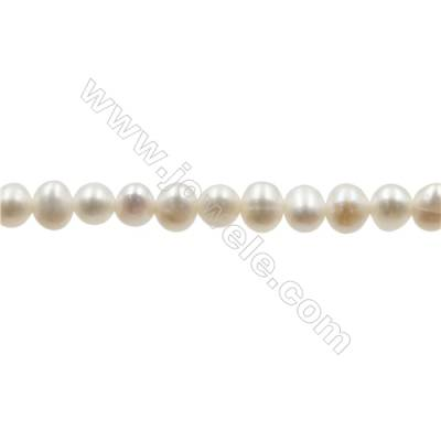 """Natural Fresh Water Pearl  White  Size 3.5~4 mm  Hole 0.4mm  15~16""""/strand"""