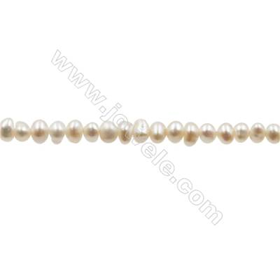 """Natural Fresh Water Pearl  White  Size 2.5~3 mm  Hole 0.4mm  15~16""""/strand"""