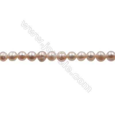 "Fresh Water Violet Pearl Beads Strand  Size 3~4mm  Hole 0.4mm  15~16""/strand"