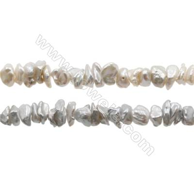 "Natural Fresh Water Pearl  Size 7~10x4~6mm  Hole 0.8mm  15~16""/strand"