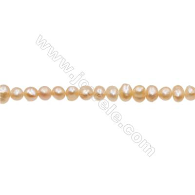 "Natural Fresh Water Pink Pearl  Size 2~3mm  Hole 0.4mm  15~16""/strand"