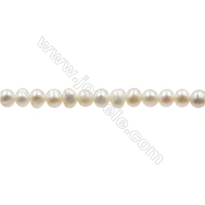 "Natural Fresh Water Pearl  White  Size 2.8~3.2mm  Hole 0.4mm  15~16""/strand"