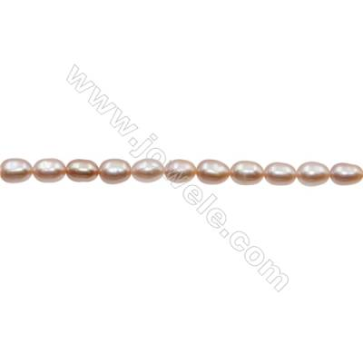 "Natural Fresh Water Violet Pearl, Size 5~6mm, Hole 0.7mm, 15~16""/strand"