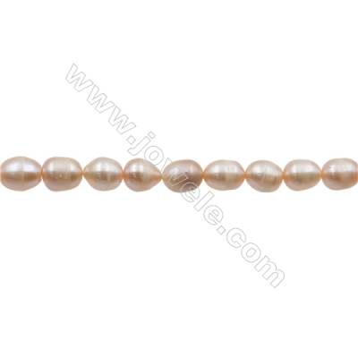 "Natural Fresh Water Pink Pearl, Size 8~9mm, Hole 0.7mm, 15~16""/strand"