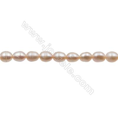 "Natural Fresh Water Pink Pearl   Size 5~6mm  Hole 0.7mm  15~16""/strand"