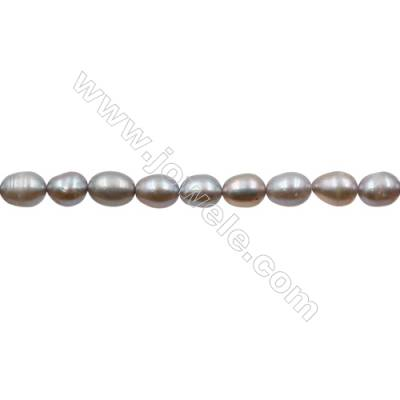 "Natural Fresh Water Grey Pearl, (Grey), Size 6~7mm, Hole 0.7mm, 15~16""/strand"