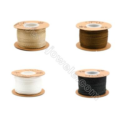 Braided Wire Nylon Threads  Brown Series  Wire Diameter 2.0mm 32 Meters / Coil