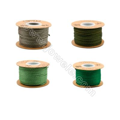 Braided Wire Nylon Threads  Green Series  Wire Diameter 2.0mm 32 Meters / Coil