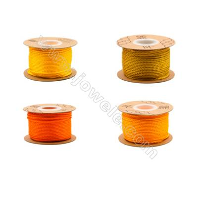 Braided Wire Nylon Threads  Yellow Series  Wire Diameter 2.0mm 32 Meters / Coil