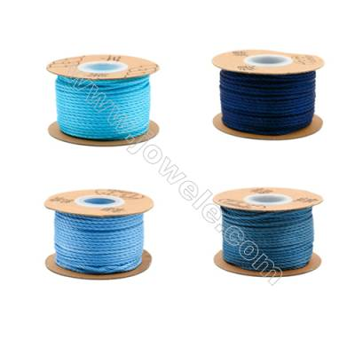 Braided Wire Nylon Threads  Blue Series  Wire Diameter 2.0mm 32 Meters / Coil