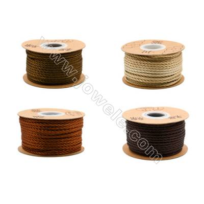 Braided Wire Nylon Threads  Brown Series  Wire Diameter 3.0mm 23 Meters / Coil