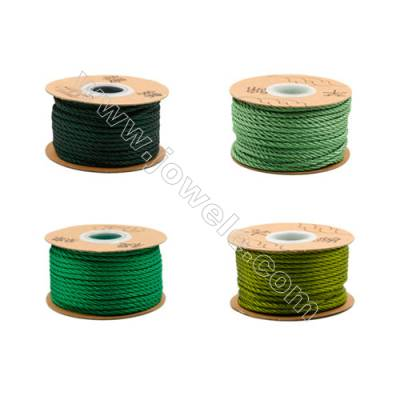 Braided Wire Nylon Threads  Green Series  Wire Diameter 3.0mm 23 Meters / Coil