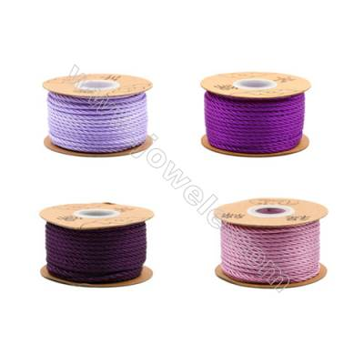 Braided Wire Nylon Threads  Violet Series  Wire Diameter 3.0mm 23 Meters / Coil