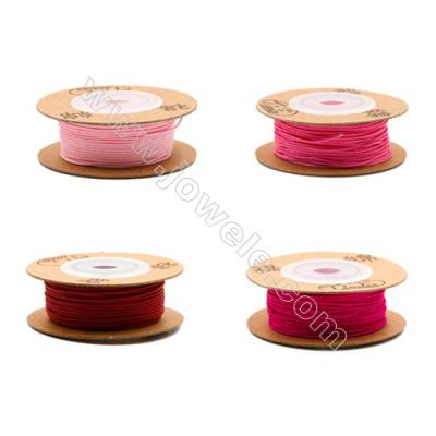 Multicolor Braided Wire Nylon Threads  821 Series  Wire Diameter 0.75mm 18 Meters / Coil