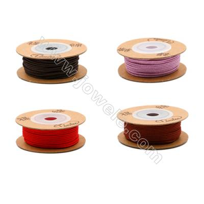 Multicolor Braided Wire Nylon Threads  842 Series  Wire Diameter 1mm 12.5 Meters / Coil