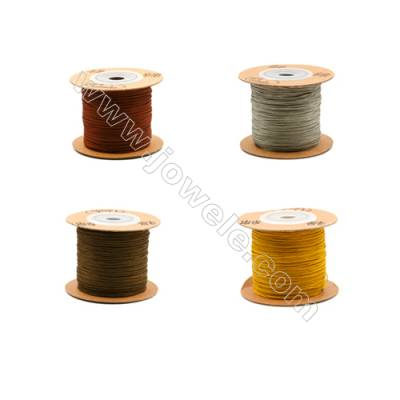 Braided Wire Nylon Threads  Brown 71 Series  Wire Diameter 0.5mm 165 Meters / Coil