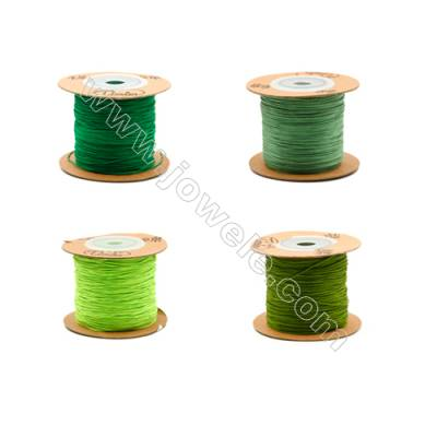 Braided Wire Nylon Threads  Green 71 Series  Wire Diameter 0.5mm 165 Meters / Coil