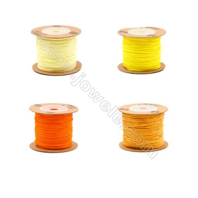 Braided Wire Nylon Threads  Yellow 72 Series  Wire Diameter 0.8mm  82 Meters / Coil