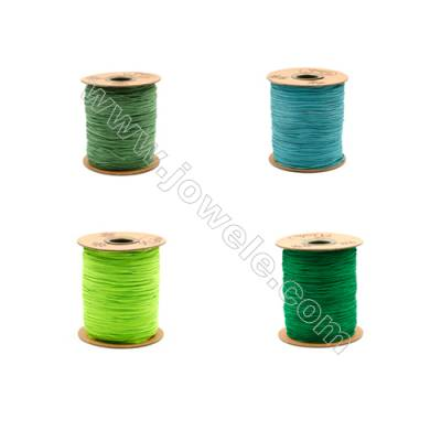 Braided Wire Nylon Threads  Green A Series  Wire Diameter 1mm 228 Meters / Coil