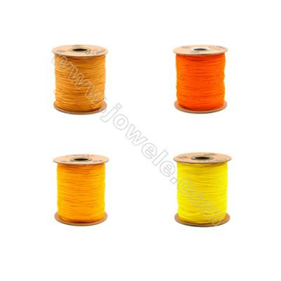 Braided Wire Nylon Threads  Yellow A Series  Wire Diameter 1.0mm 228 Meters / Coil