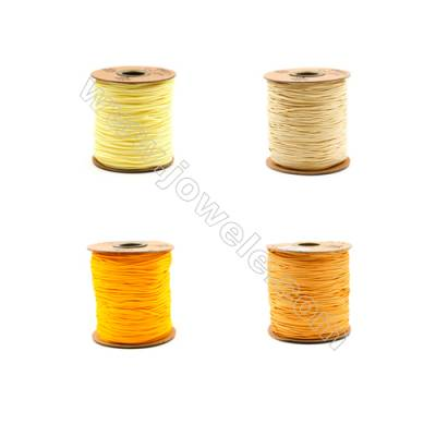 Braided Wire Nylon Threads  Yellow B Series  Wire Diameter 1.5mm 123 Meters / Coil