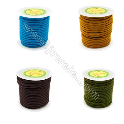 Nylon Threads  Mixed Color  Wire Diameter 4.0mm  25 Meters / Coil