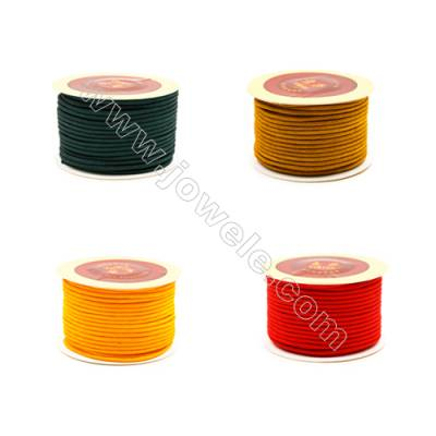 Round Multicolored Nylon Threads  Wire Diameter 3mm  27.5 Meters / Coil