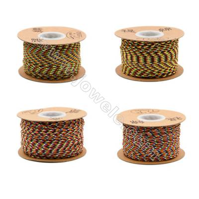 Multicolor Braided Wire Nylon Threads   540 Series  Wire Diameter 2mm 45 Meters / Coil
