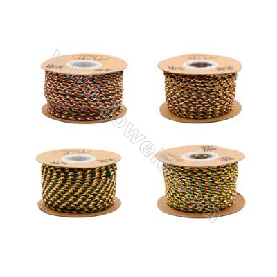 Multicolor Braided Wire Nylon Threads   540 Series  Wire Diameter 2.5mm 29 Meters / Coil