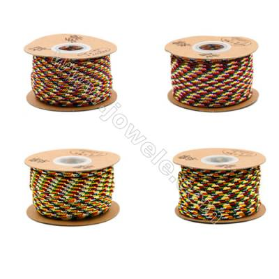 Multicolor Braided Wire Nylon Threads   540 Series  Wire Diameter 3.0mm  21 Meters / Coil