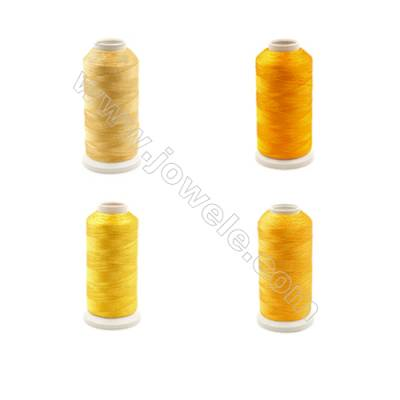 Braided Wire Polyester Threads  Yellow Series  fit for tassel making Wire Diameter 0.2mm 1000 Meters / Coil