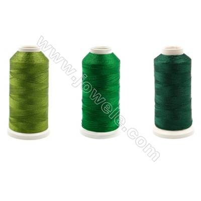 Braided Wire Polyester Threads  Green Series  fit for tassel making Wire Diameter 0.2mm 1000 Meters / Coil
