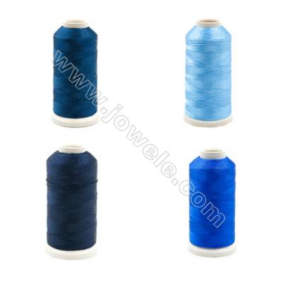 Braided Wire Polyester Threads  Blue Series  fit for tassel making Wire Diameter 0.2mm 1000 Meters / Coil