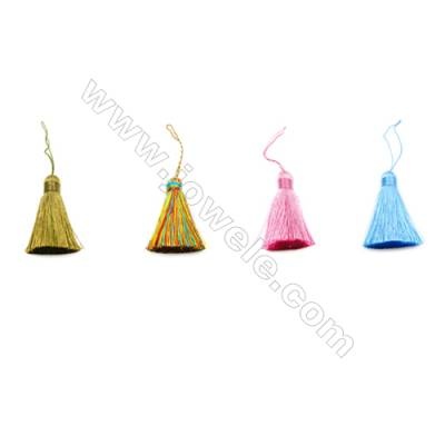 Nylon Tassel Decoration Pendant  Multicolored  Length 72mm/pc