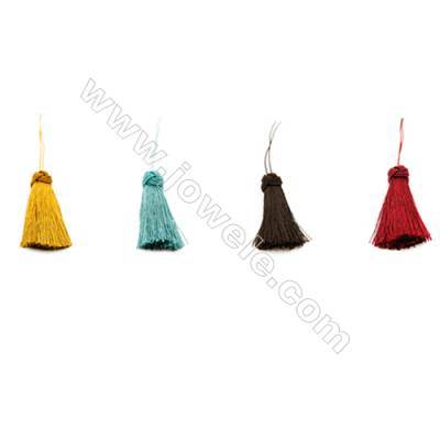 Nylon Tassel Decoration Pendant  Multicolored  Length 55mm/pc