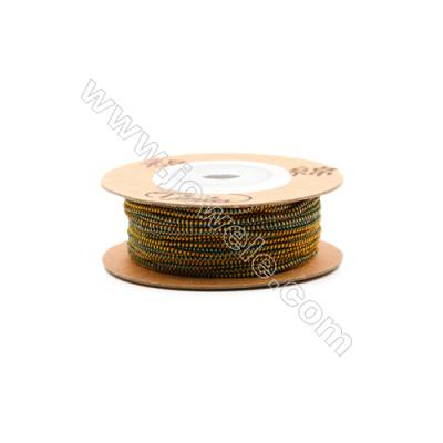 Elastic cord  with the outside of nylon and rubber inside  mixed color Wire Diameter 0.8mm  18Meters/Coil