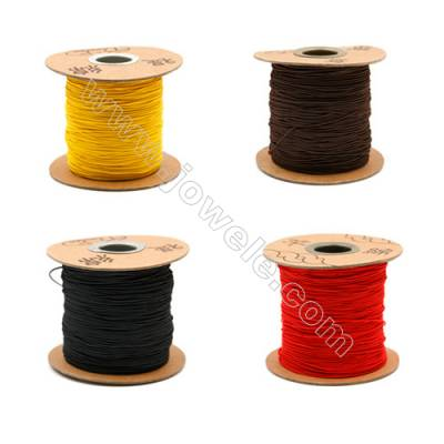Elastic cord  with the outside of nylon and rubber inside  mixed color Wire Diameter 0.8mm  183Meters/Coil