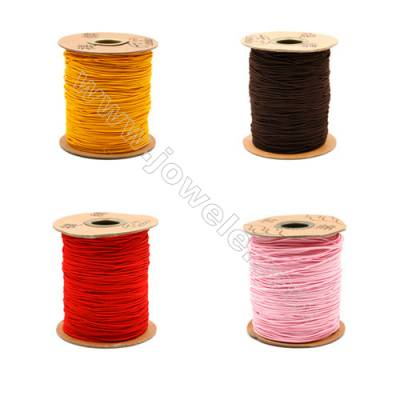 Elastic cord  with the outside of nylon and rubber inside  mixed color Wire Diameter 1.0mm  183Meters/Coil