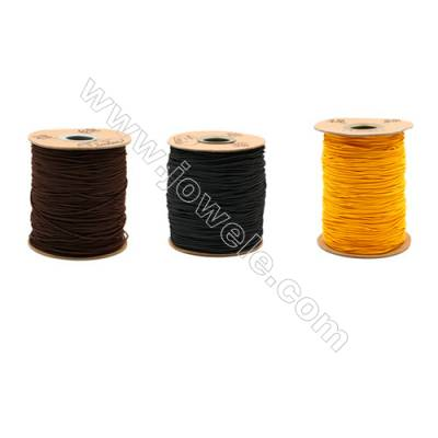Elastic cord  with the outside of nylon and rubber inside  mixed color Wire Diameter 1.2mm  183Meters/Coil