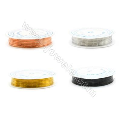 Brass Wire Multicolor,Wire Diameter 0.4mm  10Meters/Coil  10Coil/pack