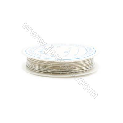 Silver Brass Wire  Wire Diameter 0.8mm  3Meters/Coil  10Coil/pack