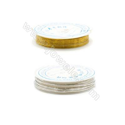 Brass Wire Silver and Gold,Wire Diameter 1.0mm  1.5Meters/Coil  10Coil/pack