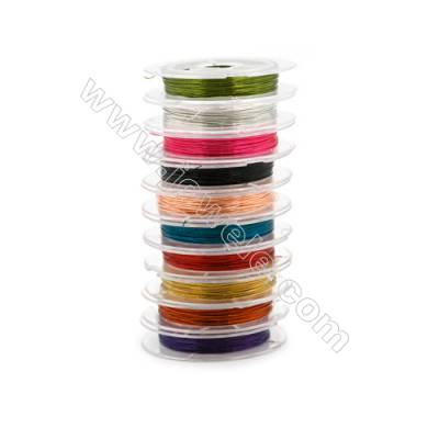 Steel Wire Multicolor,Wire Diameter 0.3mm  9Meters/Coil  10Coil/pack