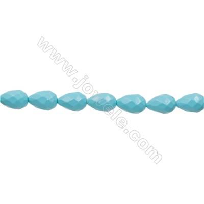 "Shell Pearl Teardrop Beads Blue  Size 12x18mm Hole 1.0mm 23pcs/strand 17~18"""