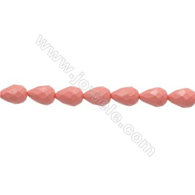 """Shell Pearl Teardrop Beads Pink(Plating)  Size 10x14mm Hole 0.8mm 29pcs/strand 13~14"""""""