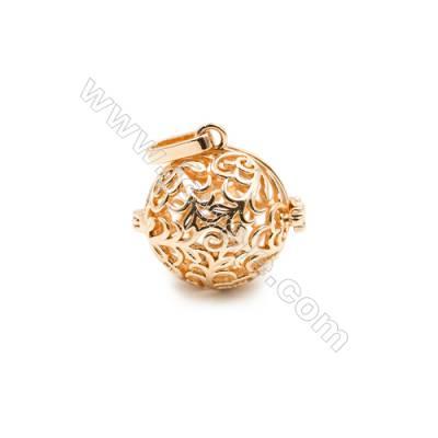 Brass Pendant Brass Plated Gold Clover  Diameter 21mm  Inner Diameter 19mm  10pcs/pack