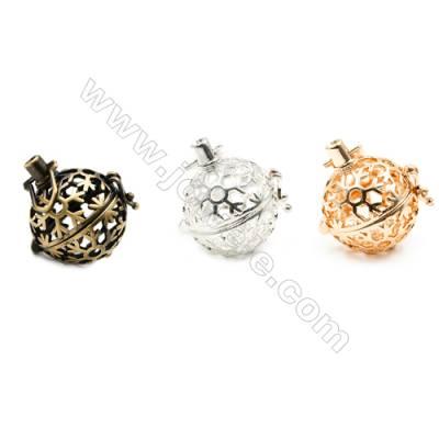 Brass Pendant Brass Plated Gold (Gold Silver Bronze)  Snow Diameter 21mm  Inner Diameter 17mm  10pcs/pack