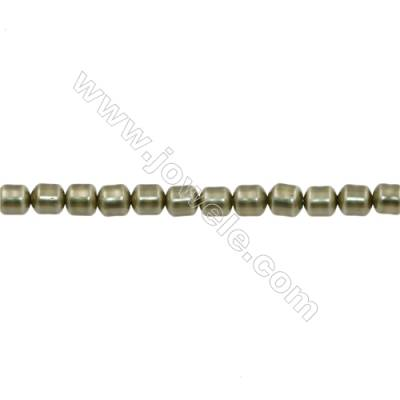Shell Pearl Teardrop Beads Green Beads Strand   Size 8x9mm Hole 1.0mm 48pcs/strand 15~16""