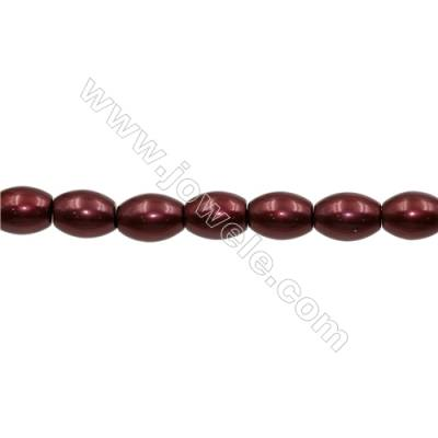 Shell Pearl Teardrop Beads Red Beads Strand   Size 12x15mm Hole 0.8mm 25pcs/strand 15~16""